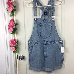 GAP Jean Romper Jumpsuit Shorts Brand New